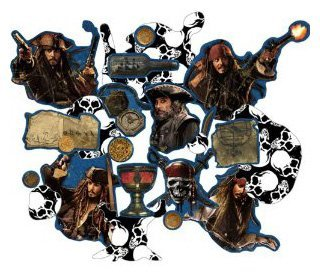 Pirates of the Caribbean 'On Stranger Tides' Paper Confetti (1 bag) - 1