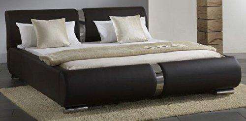Pharao24 Bett Polsterbett Doppelbett Lynn braun Liegefläche 180×200 günstig