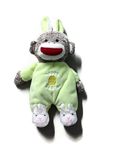 Off-White Sock Monkey Hooded Towel and 2 Washcloth Set by Baby Starters Not Applicable