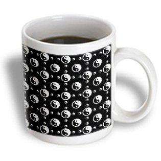 Patricia Sanders Inspirations - Black Yin Yang- Zen Art- Spiritual - 11Oz Mug (Mug_48628_1)
