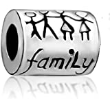 "Silver Plated ""family"" Bead Fit Pandora Charms"