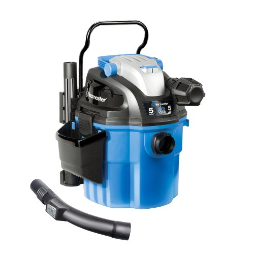 Vacmaster VWM510 Wall Mount Wet/Dry Vacuum Powered by Industrial 2Stage Motor with Remote Control, 5 Gallon, 5 Peak HP
