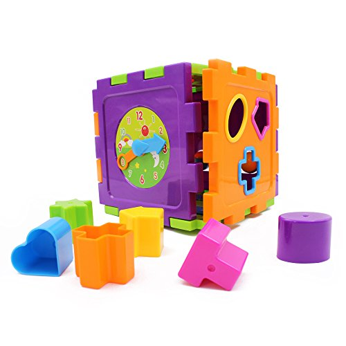 Wishtime Activity Gear Puzzle Baby's First Blocks Shape Sorting Cube