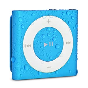 Waterfi Waterproof Apple iPod Shuffle - Best Swimming MP3 Player (New Model) (Blue)