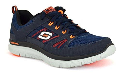 Details for Skechers Flex Advantage Navy Orange Material Athletics 9.5 2E US by Skechers