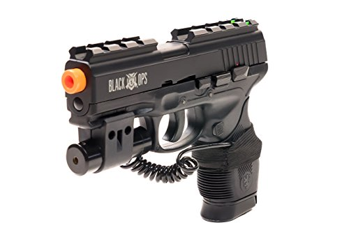 Airsoft Gun Black Ops Wolverine CO2 Semi-Automatic BB Pistol Shoot Biodegradable .20 .25 BBs (10 Dollar Airsoft Guns compare prices)