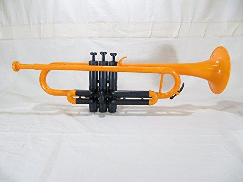 とても楽しいプラペット♪ プラスチック トランペット ピストン金属製 宴会芸に最適 (ORANGE)