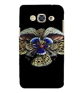 PrintVisa Colorful Butterfly Design 3D Hard Polycarbonate Designer Back Case Cover for SAMSUNG GALAXY J3 PRO