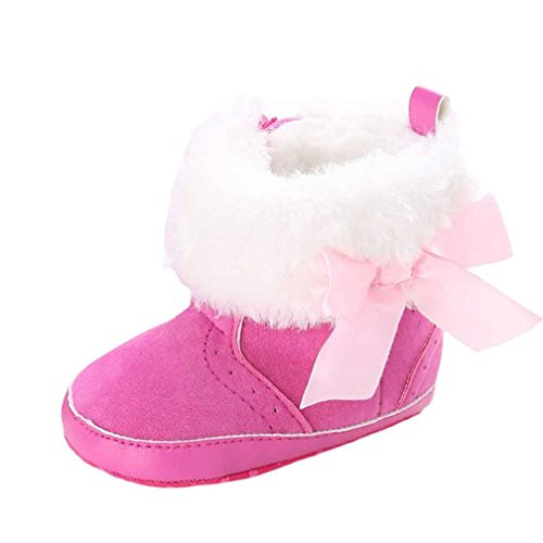 Per Bambino 0~18 mesi,Amlaiworld Morbido mantenere caldi stivali (Lunghezza: 11 CM, rosa caldo)