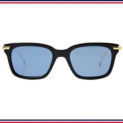 THOM BROWNE. NEW YORK TB 701 D T Navy Shiny 18K Gold Metal 49size Drak Blue