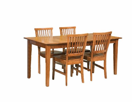 Home Styles Arts & Crafts 5 Piece Hardwood Dining Set in Cottage Oak