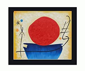 Ohne Titel (The Red Sun) Canvas Art by Joan Miro Surrealism