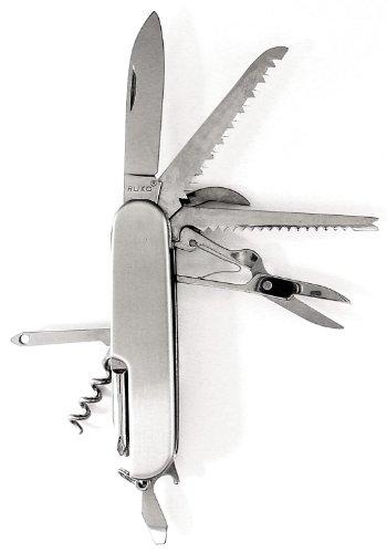 Ruko 13-Function Stainless Steel Swiss-Style Folding Knife (3-1/2-Inch)