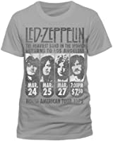 Led Zeppelin Heaviest Band In The World Official Unisex T-Shirt (Grau) S