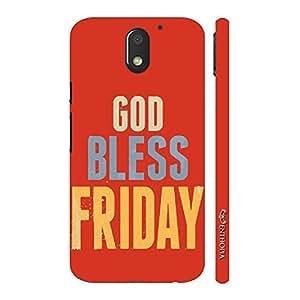 Enthopia Designer Hardshell Case God Bless Friday Back Cover for Motorola Moto E (3rd Gen)