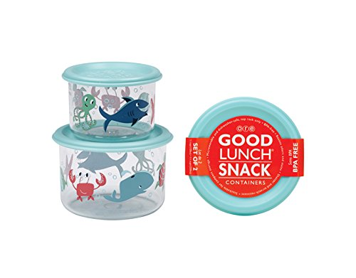 SugarBooger Good Lunch Small Snack Container, Ocean