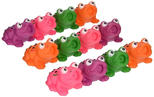 "2 1/2"" Assorted Frog Squirt Toys (12 pack)"