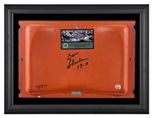 Don Shula Miami Dolphins Autographed Orange Bowl Stadium Seat in Black Framed... by Sports Memorabilia