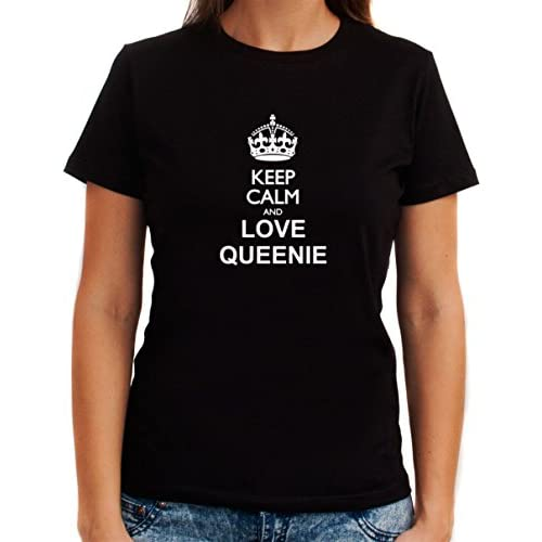 Keep calm and love Queenie 女性のTシャツ