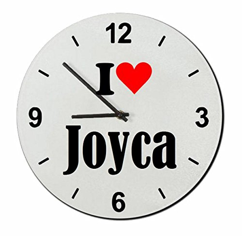 """ESCLUSIVO: Orologio Vetro """"I Love Joyca"""" una grande idea regalo per il vostro partner, colleghi e molti altri! - Regalo di Pasqua, Pasqua, orologio, orologio, Regaluhr, regalo, Made in Germany."""