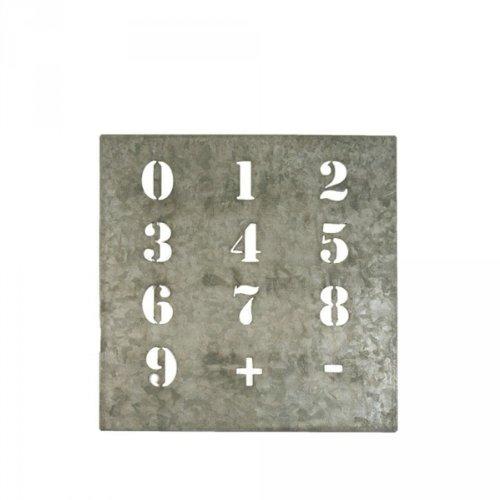 Zinkschild mit Nummern von Ib Laursen Schablone Zahlen Malschablone