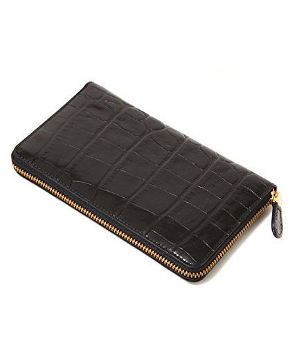 J&M DAVIDSON(ジェイアンドエム デビッドソン)NEW SIZE ZIP WALLET(MOC) (ジップウォレット 財布) フリーサイズ ブラック