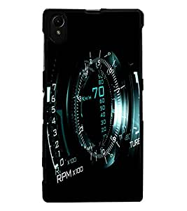 ColourCraft Digital Meter Design Back Case Cover for SONY XPERIA Z1