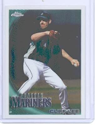 2010 Topps Chrome Baseball Card # 40 Cliff Lee - Seattle Mariners - MLB Trading Card