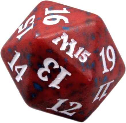 M15 Red D20 Spindown Lifecounter MTG Magic