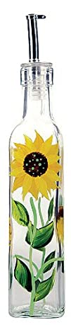 Grant Howard Glass Sunflower Oil   Vinegar Bottle
