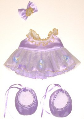 "Purple Ballerina Outfit fits 12"" Snuggl'ems, most Webkinz, Shining Star and 8"" - 10"" Make Your Own Stuffed Animals"