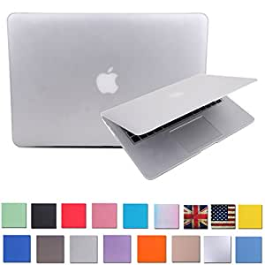 """HDE Matte Hard Shell Clip Snap-on Case for MacBook Pro 15"""" with Retina Display - Fits Model A1398 (Clear)"""