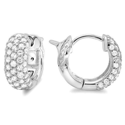 3 Row Cubic Zirconia Earrings