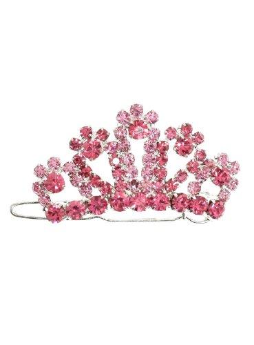 UrbanPup Regal Pink Crown Swarovski Hair Clip / Dog Barrette (Swarovski Crystal Dog Hair Clips compare prices)