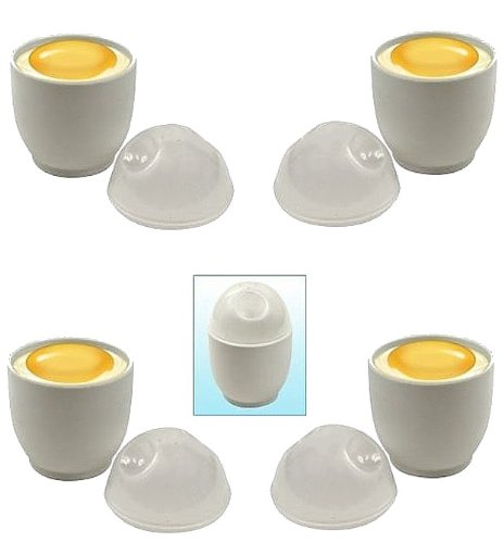 Al-De-Chef Microwave Egg Cookers - (Set Of 4)