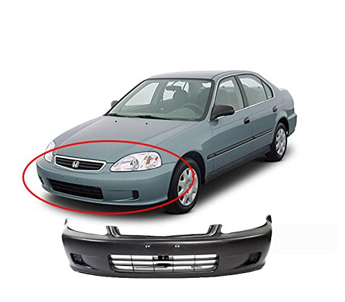 MBI AUTO - Primered, Front Bumper Cover 1999 2000 Honda Civic, HO1000184 (Front Bumper For Honda Civic 2000 compare prices)