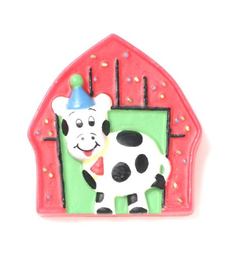 Creative Converting Barnyard Bash Molded Candle - 1