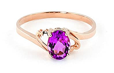 QP Jewellers Natural Pink Topaz Ring in 9ct Rose Gold, 1.0ct Oval Cut - 1640R