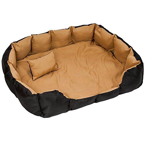 TecTake Letto per cani letto cuscino una coperta per gli animali cuccia cane lettino nero marrone