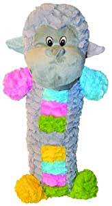 Patchwork Pet Pastel Monkey Stick 20-Inch Squeak Toy for Dogs