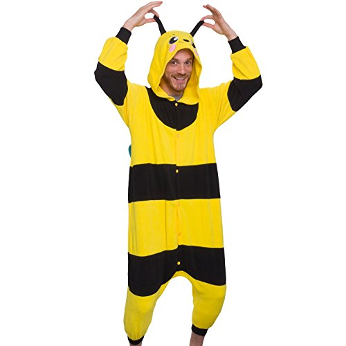 Silver Lilly Unisex Adult Pajamas - Plush One Piece Cosplay Bee Animal  Costume f3f05d2ae