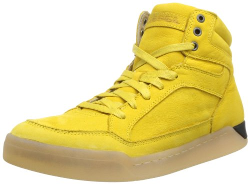 Diesel Men's Tempus Basket Diamond Fashion Sneaker,Freesia Yellow,10 M US