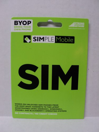Simple Mobile Activation Kit including Sim Card