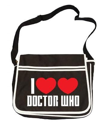 I LOVE DOCTOR WHO- Sci fi fanatic, Retro Messenger Men's Shoulder Bag