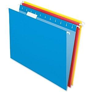 Pendaflex Essentials Hanging Folder, 1/5 Cut, Letter, Assorted (81612)