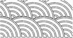 Bulk Buy: Sten Source Quilt Stencils By Pepper Cory C. L. Baptist Fan 10