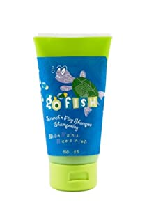 Upper Canada Soap & Candle Go Fish Scrunch 'n Play Shampoo, Turtle Melon Madness, 5.2-Ounce Tubes (Pack of 3)
