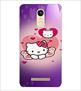 PrintDhaba Kitty D-4473 Back Case Cover for XIAOMI REDMI NOTE 3 (Multi-Coloured)