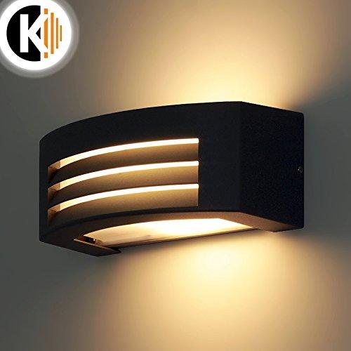 LED-Leuchte-Wandleuchte-IRA-E27-FASSUNG-IP54-GRAU-Aussenleuchte-Auenlampe-Wandlampe-Gartenleuchte-Flurleuchte-230V