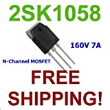 1 pc OF 2SK1058 N-Channel MOSFET 160V 7A / the transistor - Free Shipping
